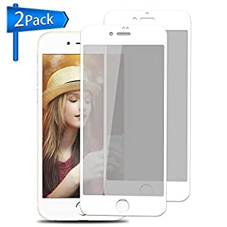 Privacy Screen Protector for iPhone 7/8 ANYOYO Screen Protector [Privacy White,2 Pack], with Anti-Peeping/Spy/Glare/Shatter/Scratch/Fingerprint Ultra-Thin Tempered Glass Film, Easy to Install