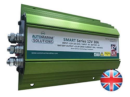 Auto & Marine Smart Series 12 V 30 Amp DC-2-DC Caricabatterie + Kit di Cablaggio Universale Completo
