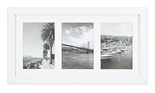 Golden State Art, 9x 18weiß Foto Holz Collage Rahmen mit Weiß Matte, Displays (3) 5x 7Bilder mit Echtglas (Mit Bild-rahmen Matte)
