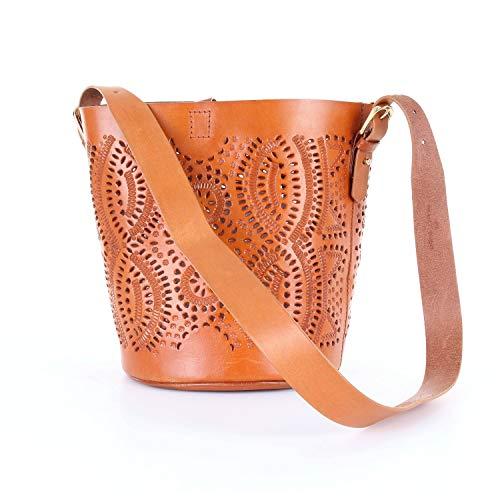 Antik Batik KALAI1BUCKET Tasche für Damen, Braun Einheitsgröße
