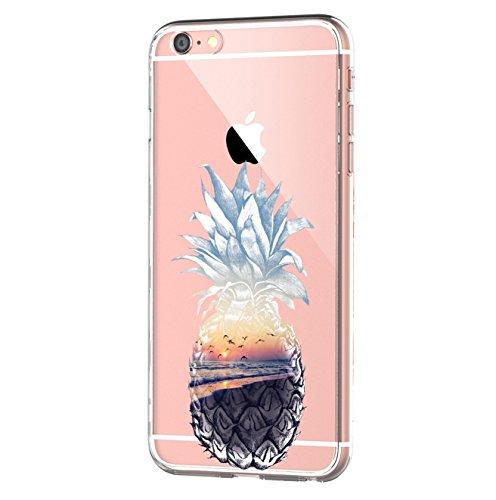 iPhone 6s/6 Hülle, iPhone 6S Schutzhülle Durchsichtig Silikon Silikonhülle Transparent TPU Bumper Schutz Handy Hülle Handytasche Handyhülle Schale Case Cover für iPhone 6 6S (Blume9)