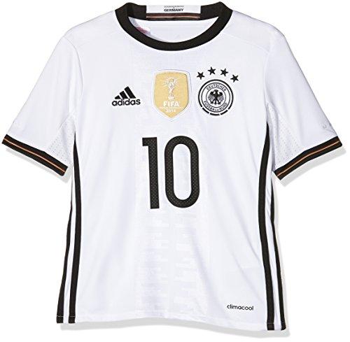 adidas Kinder Trikot DFB Home Jersey Youth Podolski White, 152 -