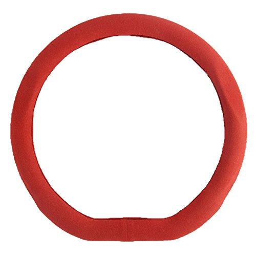 Preisvergleich Produktbild Car steering wheel cover Männer und Frauen Jahreszeiten Universal Lenker Set Autozubehör Auto Lenkradabdeckung, Red-38cm