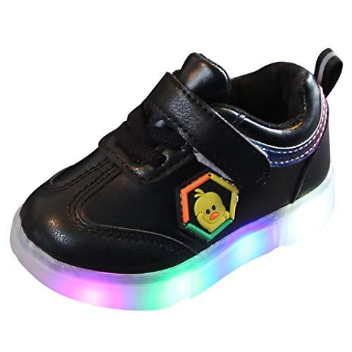 Kostüm Kitty Babys Hallo - Heligen LED Schuhe Kinder Beleuchtete Freizeitschuhe Mädchen Schuhe Hell Hallo Kitty Kinder Schuhe Mit Licht Nette Baby Mädchen Stiefel (23 EU, Schwarz)