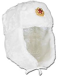 Shapka russe avec insigne blanc