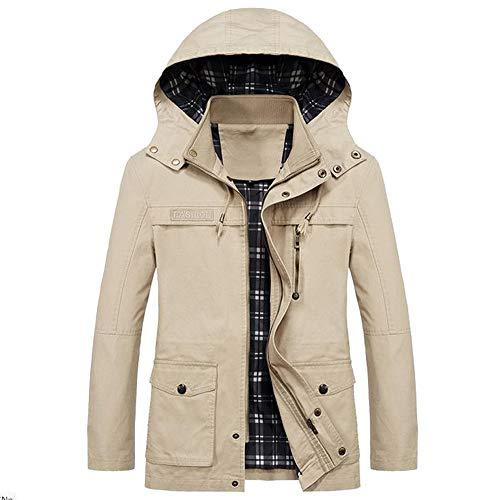 Yanhoo Herrenmode Herbst Winter Jacke Zip Knopf Parka Mantel Steppjacke Mantel Outwear Mit Kapuze