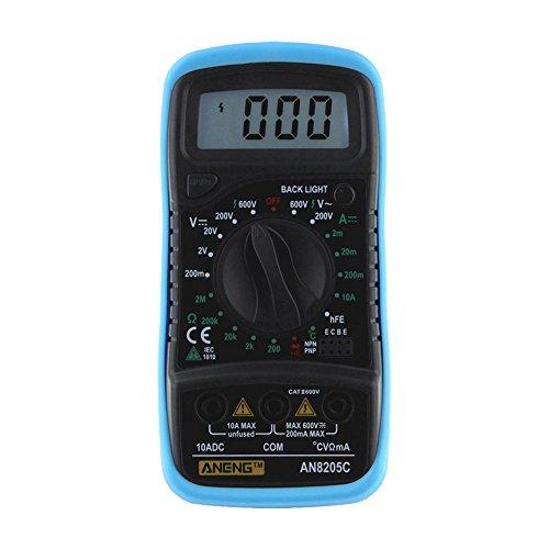 domybest Termometro multimetro digitale voltmetro Ampere AC DC Ohm VOLT, blu