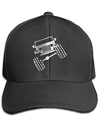 Tboylo Black Jeep Wrangler TJ Funny Viny Platinum Men's Adjustable Peaked Baseball Caps Black