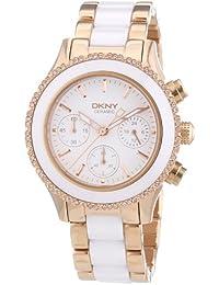 DKNY  NY8825 - Reloj de cuarzo para mujer, con correa de cerámica, color multicolor