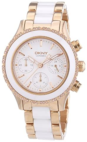 DKNY SUMMER 13 Women's White Ceramic Stainless Steel Case Watch ny8825