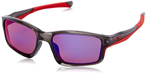 Oakley Herren Chainlink OO 9247 Polarized Rechteckig Sonnenbrille, Black/Red Iridium Polarized (S3)