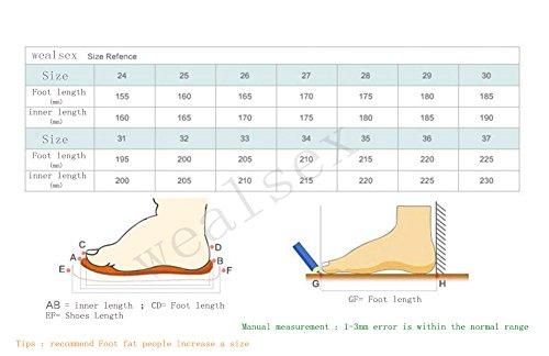 Wealsex Sneakers Basses Chaussures de Tennis Sport Baskets mode Scratch Lacet Mixte Enfant Bébé Noir