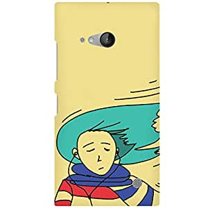 URBAN KOLOURS Original Designer Printed Hard Case Back Cover for Microsoft Lumia 730 (Windy Girl)
