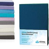 4c450c7a69 etérea Kinder Jersey Spannbettlaken - Serie Comfort - 100% Baumwolle  Spannbetttuch Farbe Marine Blau,