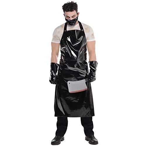 (Amakando Derbes Metzger-Kostüm Schlachter / 3-teilig / Psycho-Outfit Herren / Perfekt geeignet zu Halloween & Gruselparty)