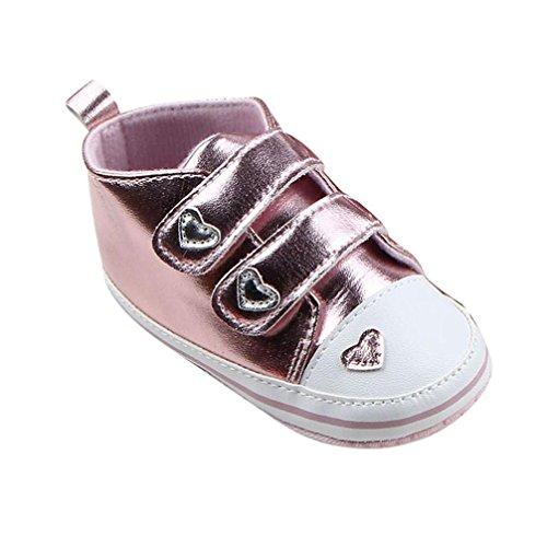 Ouneed® Krabbelschuhe , Kleinkind Mädchen Sneaker weiche Sohle Krippe Schuhe Rosa