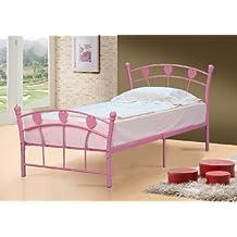 Single Jemima Princess 3ft 90cm Childrens Hearts Bed + Tanya Mattress