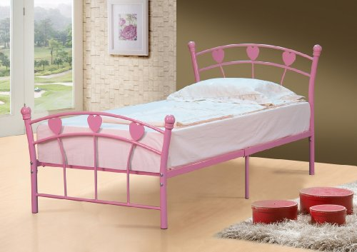 Jemima Single Girls Pink Bed Frame Serene 3ft Jemima Bedstead