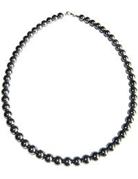 801f78ad31f9 Collar Hematita 39cm - Bolas de Piedra 8mm - Cierre de Plata