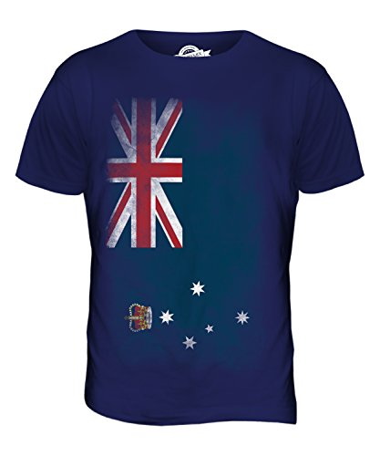 CandyMix Victoria Verblichen Flagge Herren T Shirt Navy Blau
