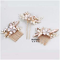 f6db8a7a5 MTWTM Capelli Sposa Headwear Nastro per Capelli Donna Pettine Capelli  Matrimonio Accessori Estetica Bridesmaids Fiori A