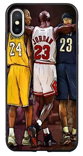 Art Design Hülle für iPhone X/iPhone XS Michael Jordan Kobe Bryant Lebron James Best Basketball Players NBA Soft Silikon