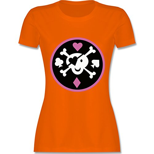 Piraten & Totenkopf - Süßer Totenkopf - tailliertes Premium T-Shirt mit  Rundhalsausschnitt für Damen