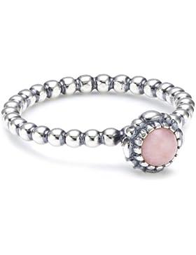 Pandora Damen-Ring 925 Silber Opal rosa 190854POP