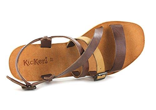 Kickers Khôla, Sandales Femme Marron