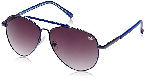 Flying Machine Aviator Sunglasses (Shiny Electric Blue) (FMS 107|208|62)  available at amazon for Rs.699