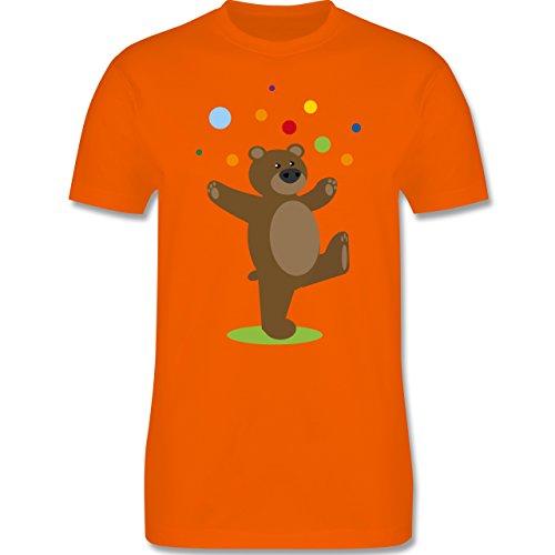 Sonstige Tiere - Kinder-Motiv Bär - Herren Premium T-Shirt Orange
