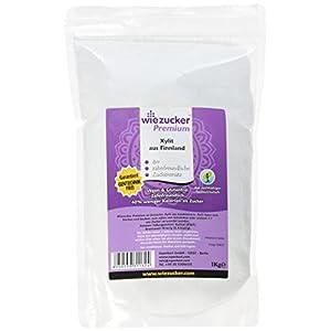 Wiezucker Premium Birkenzucker aus Finnland, Xylit Hergestellt aus Laubhölzern, 1er Pack (1 x 1 kg)