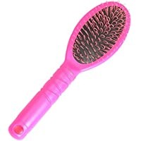 Vococal- Cepillo Peine de Lazo de Plástico para Pelo extensión,Rosa