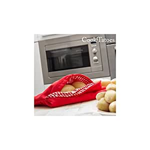 Always Fresh Kitchen Cook Tatoes Borsa per patate in microonde, Rosso, 2x 22x 17cm