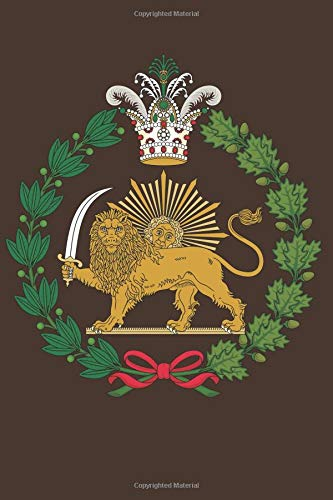 Persian Flag Lion and Sun: Blank Lined Notebook, Journal or Diary