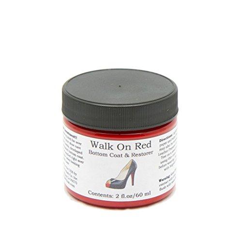 Angelus Farbe Lederfarbe für die Schuhsohle Ledersohle Walk on Red or Black Laufe auf Schwarz Oder...