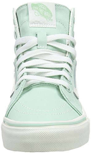 Vans Sk8-hi Slim, Sneakers Hautes mixte adulte Vert (Gossamer Green/Blanc de Blanc)