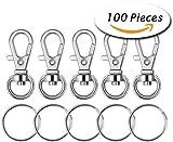 Paxcoo 100 pezzi gancio girevole in lana per ganci con anelli portachiavi (piccole dimensioni)