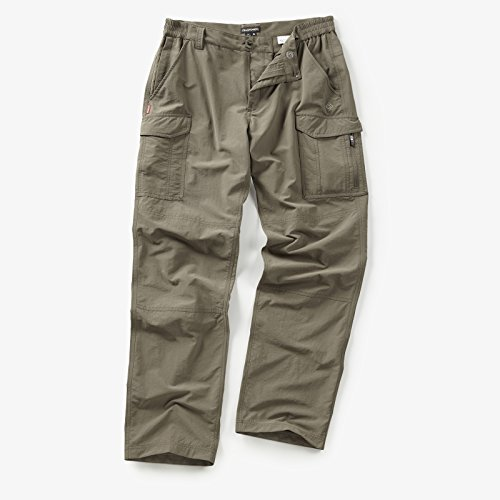 CRAGHOPPERS NOSILIFE CARGO MENS TROUSERS PEBBLE (LEG S WAIST 34IN) (Pebble Bekleidung)