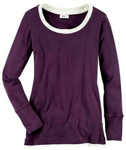 FLG Flashlight Langarm Shirt Longsleeve Longshirt Gr 32 34 aubergine lila