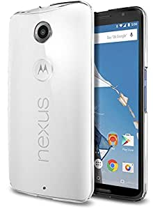 Nexus 6 TRansparent Cover, Sparkle Vacume Packed Transparent Case Back Cover for Google Nexus 6 - Transparent