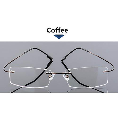 YMTP 6 Farben 8G Ultra Helle Gläser Männlichen Frauen Randlose Gläser Rahmen Edelstahl Brillen Rahmen Für Myopie Gläser
