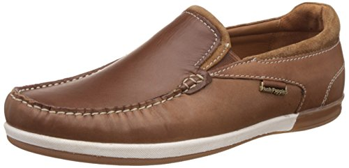 Hush Puppies Men's Zeal Slip On Tan and Light Brown Loafers and Moccasins - 9 UK/India (43 EU) (8543929)