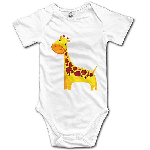 dy Kurzarm Lovely Giraffe Newborn Bodysuits Baumwolle Strampler Outfit Set ()