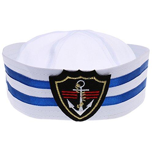 Chapeau-Marin-Casquette-Marine-Ray-Enfants-Capitaine-de-Bateau-Taille-Unique-losange-L