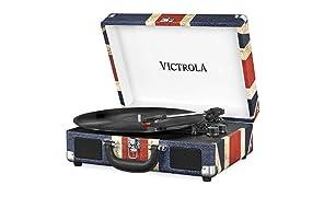 Victrola Suitcase Bluetooth 3-speed Turntable - UK Flag