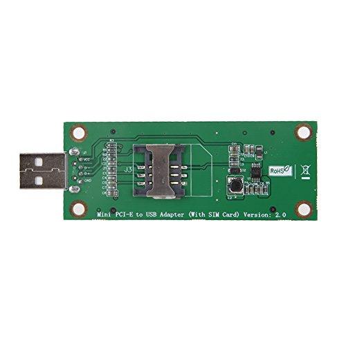 prettygood7 Micro SD Zwischenstecker Kartenlesegerät Mini PCI-E Wireless zu USB Adapterkarte mit Sim Kartensteckplatz Test WWAN Modul