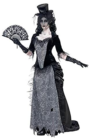 Ladies Ghost Town Black Widow Costume Halloween Outfit by generique