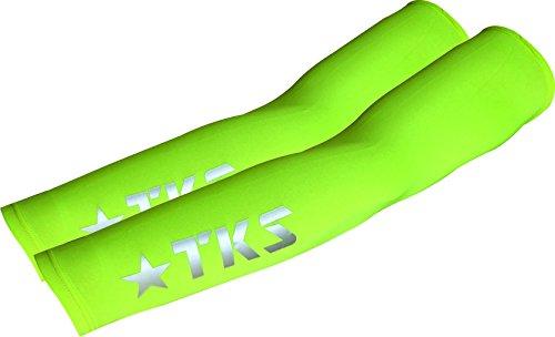 Manicotti TKS 7picos, perfetto per ciclismo, running e Trail Running, Taglia unica. Colore Giallo