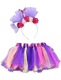 e26286b61ac2 2019 Nuovo Costume da Ragazza Leggero per Bambini Tutu Party Dance Ballet  Costume Gonna Arcobaleno +